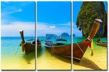 Thailand Beach Krabi Print 3 Piece Print Canvas Wall Painting