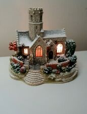 More details for lilliput lane 'lead kindly light in winter' church illuminated 2002 boxed...