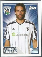 TOPPS 2014/15 PREMIER LEAGUE #516-WEST BROMWICH ALBION & GREECE-GEORGIOS SAMARAS