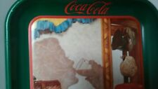 Coca-Cola Reflections In The Mirror Vintage 1993 Thick Gauge Metal Tray Soda Bar