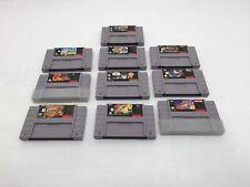 10 Super Nintendo Snes Carts Donkey Kong Earthworm Jim Batman Kirby Yoshi Island