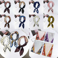 Fashion Summer Women Neckerchief Print Small Square Scarves Silk Neck Head Scarf