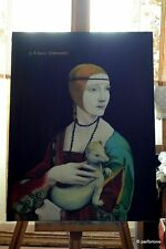 stunning beautiful antique Lady With the Ermine unique Oil painting canvas AYA