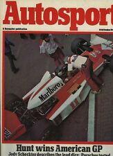 AUTOSPORT 14th OTTOBRE 1976 USA GRAND PRIX & Rally San Remo