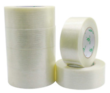 6pack Reinforced Packing Tape 55mil 2inx 60yds Heavy Duty Fiber Strapping