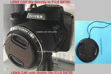FRONT SNAP-ON LENS CAP DIRECTLY on to FUJI S9750 S 9750 FINEPIX FUJIFILM+HOLDER