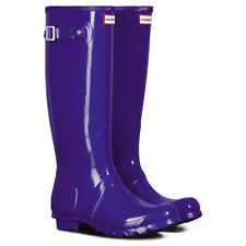 Ladies Hunter Original Tall Gloss Knee High Wellie Festival Snow Boots All Sizes