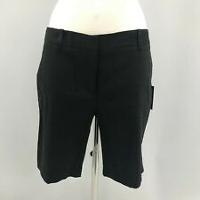 New DKNY Shorts Womens Size 10 Black Linen Casual Everyday Spring/Summer 291827