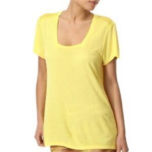 Vero Moda Aurora Yellow Light Loose Fit T Shirt UK 10  Eur 38 BNWT Free Shipping