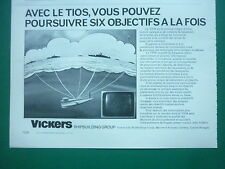 6/76 PUB VSEL VICKERS SHIPBUILDING TIOS TORPILLE SOUS-MARIN SUBMARINE FRENCH AD