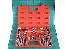 40pc Tap & Die Set Metric Screw Thread Cutter Pitch Gauge & Blow Mould Case