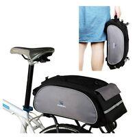Black ROSWHEEL Bike Rack Pack Seat Bag Rear Pack Trunk Pannier Handbag