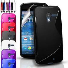 S-LINE SILICONE GEL CASE FOR MOTOROLA MOTO X FREE SCREEN GUARD + STYLUS