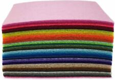 44Pcs 4 x 4 inches (10 x10cm) Assorted Color Felt Fabric Sheets Patchwork Sewing