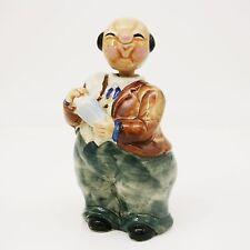 """Vtg 7"""" Shafford Fat Japanese Bartender Man Mixing Drink Decanter Bottle Pitcher"""