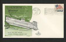 US Postal History Industry Research Submarine Launching Aluminaut 1964 Groton CT