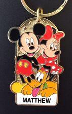 Disneyland Name Keychain Mickey Minnie Pluto Personalized MATTHEW