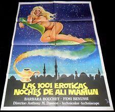 1001 Nights of Pleasure ORIGINAL Spain POSTER Arabian Nights Sexy Erotic MCP Art