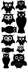 OWLS VINYL WALL DECALS SET OF 11 DECORATING BABYS ROOM NURSERY DORM TEEN GIRL
