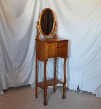 Antique Oak Art Nouveau Style Shaving Stand