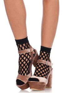 Leg Avenue black Oval net anklets