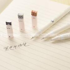6 Pcs / Set Colorful Cats Design 0.38mm Black Gel Ink Pens Roller Needle Pen