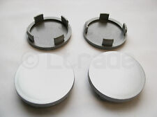 4x Nabenkappen Felgendeckel Nabendeckel Ø 55mm-52mm Silber Felgenkappen NEU