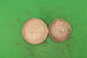 Rhodesien 2 Shillings 1942 + 21/2 Shillings 1937 beide vz ! hübsche Qualität