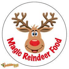 48 x Christmas Magic Reindeer Food Sticker Business Xmas Label Fun - A 755