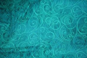 DESIGN ESSENTIALS - TURQUOISE SWIRLS ON TURQUOISE -  COTTON FABRIC