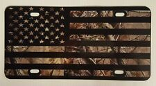 Camouflage Plastic License Plate Truck Realtree Black Flag Hunt Off Road Country