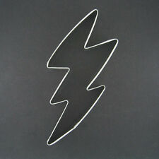 """LIGHTNING BOLT 5.5"""" METAL COOKIE CUTTER STORMY DAY SUPERHERO BIRTHDAY FAVORS NEW"""