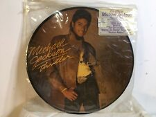 RARE Vtg 80s 1983 Michael Jackson Thriller LP Picture Disc Record shirt t jacket
