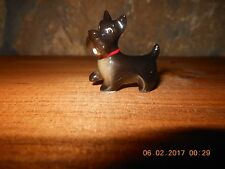 MINIATURE SCOTTISH TERRIER FIGURINE, Porcelain Black Dog figure