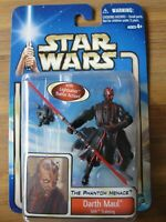Star Wars 2002 The Phantom Menace Sith Training DARTH MAUL Figure Brand New