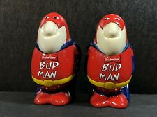Vintage 1991 Budman Salt & Pepper Shakers  Budweiser Advertising