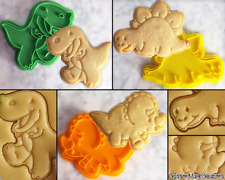 Dinosaur Cute Cookie Cutter Set T-Rex DIY Biscuit Stamp Baking Ceramics Pottery