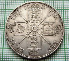 GREAT BRITAIN QUEEN VICTORIA 1887 JUBILEE FLORIN - 2 SHILLINGS SILVER HIGH GRADE