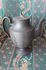 Wedgwood Black Basalt Porcelain Teapot antique Wedgwood c1790s and widow cover[6