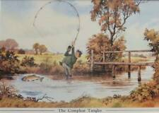 THELWELL VINTAGE PRINTS - FISHING  - THE COMPLEAT TANGLER -