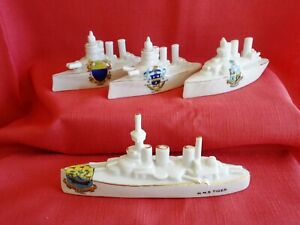 Four models of WW1 Battleships - Please see description for condition report