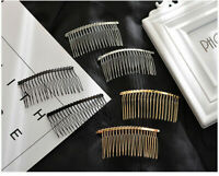 75X37mm Metal Hair Clips Side Pin Barrettes for Women Craft Lot Combs Jewelry