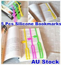 5 Pcs Silicone Bookmarks Note Pad Memo Stationery Book Mark Novelty Funny Cute