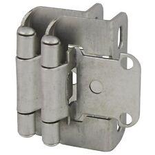 "Cosmas Cabinet Hinges Satin Nickel 1/2"" Inset 27550-Sn (Pair)"
