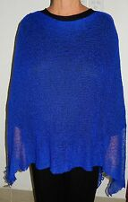 LADIES LIGHT WEIGHT KNITTED PONCHO THROW OVER PLUS SIZE 16 18 20 22 24 26