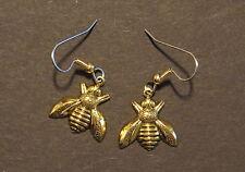 Napoleonic Bee Earrings 24 Karat Gold Plate Beekeeper Honey Bees Save the Bees