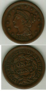 XF 1853 BRAIDED HAIR LARGE CENT