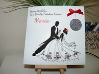 Handmade Personalised Female Strictly Come Dancing Ballroom Birthday Card