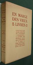 LEMAITRE - EN MARGE DES VIEUX LIVRES - 1924 BOIVIN - ILLUS. LALAU - CONTES