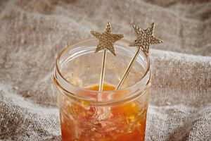 Set of 2 Brass Star Spoons, Gift Box Foodie Present, Kitchenware Xmas Nkuku
